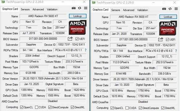 RX5600XT和RX5700性能差距,测评告诉你哪个好