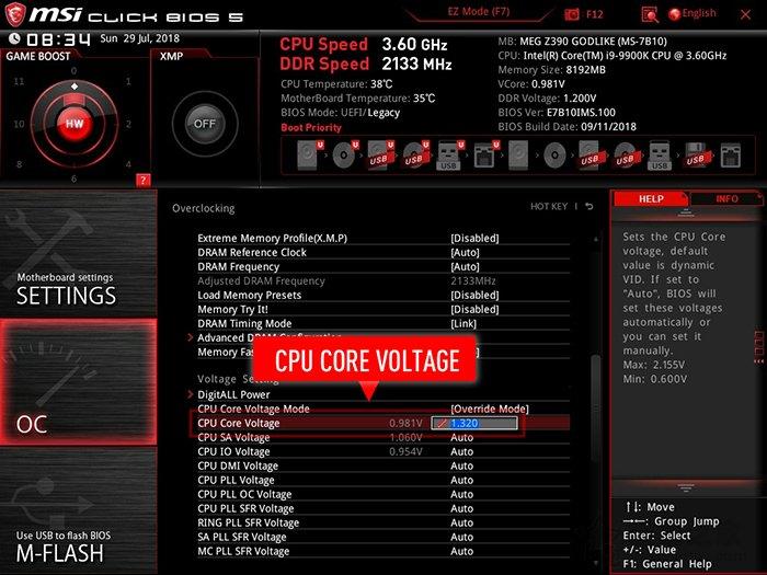 CPU 自动带入适当电压功能