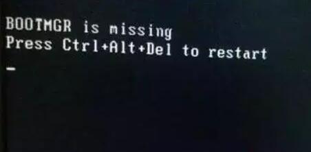 电脑开机黑屏情况三:BOOTMGR is missing