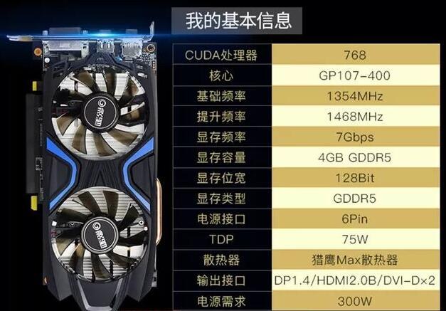 显卡:影驰GTX1050Ti 4G