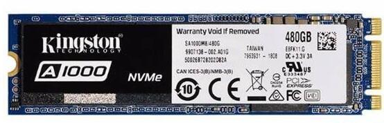 金士顿A1000 480G NVME M.2固态硬盘