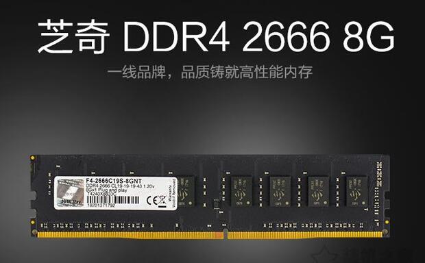 芝奇8G DDR4 2666内存