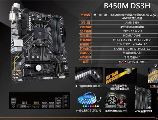 主板:技嘉B450M-DS3H