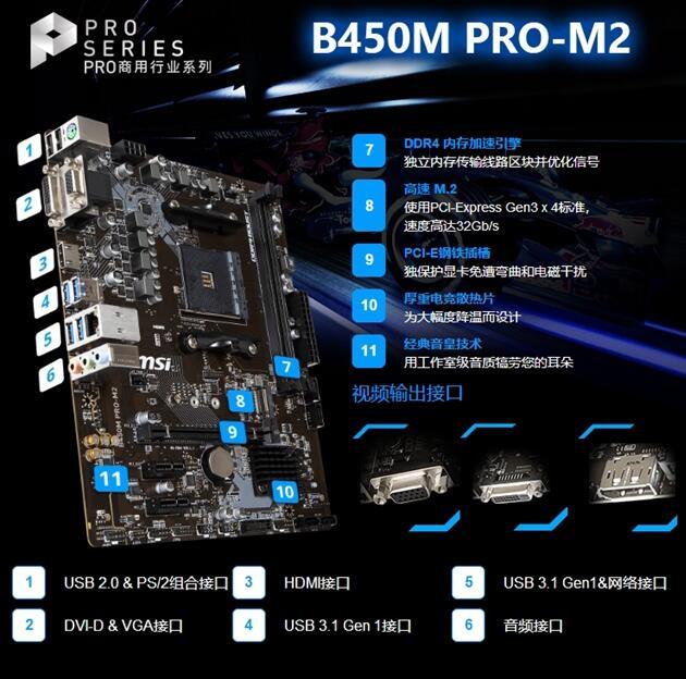 主板:微星B450M PRO-M2
