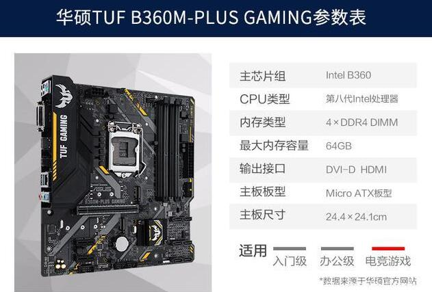 华硕TUF B360M-PLUS GAMING