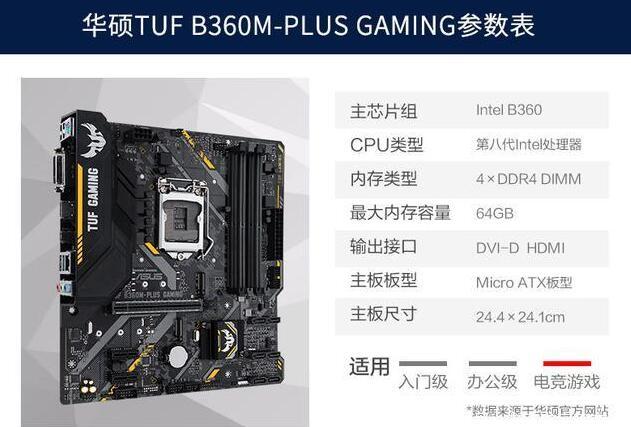华硕TUF B360M-PLUS GAMING
