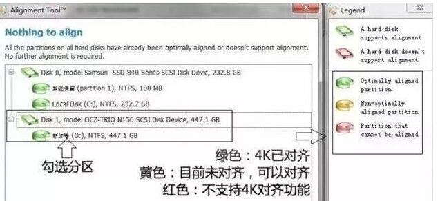 对 SSD 进行无损4K对齐
