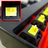 机械键盘轴黄轴