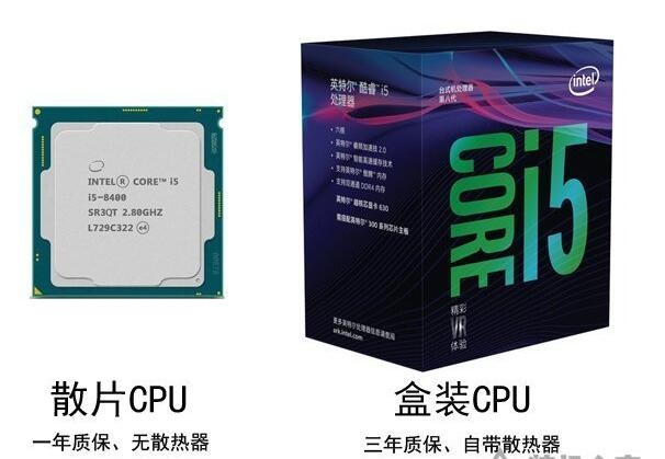 散片CPU和盒装CPU在性能和质量上有什么区别