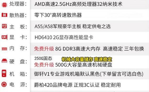 四、250G固态换500G机械容量免费升级
